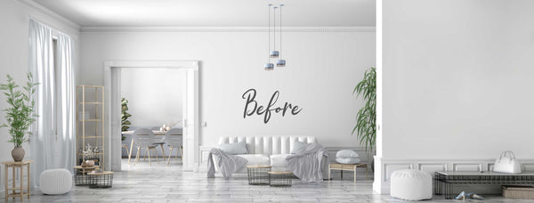 Basic room transformed with artwork and simple accessories