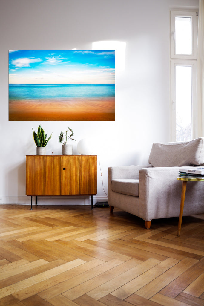 Colorful beach photograph as the perfect showpiece on the wall.