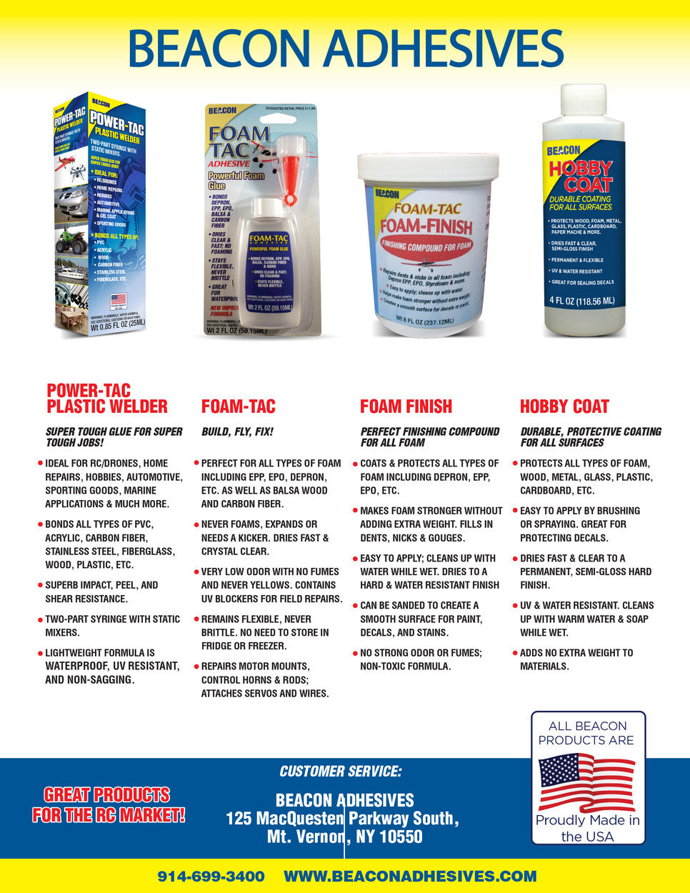 Foam-Tac Product Catalog