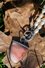Load image into Gallery viewer, Polychrome Jasper & Pearl Toggle Pendant w Sterling Silver