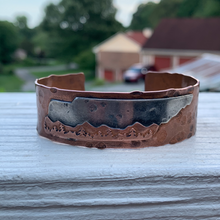 Load image into Gallery viewer, Copper Tennessee Mountains Cuff Bracelet