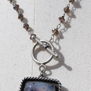 Montana Agate Front Toggle Sterling Necklace
