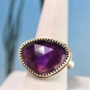 Amethyst (Faceted) & Sterling Silver Ring