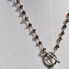 Load image into Gallery viewer, Montana Agate Front Toggle Sterling Necklace