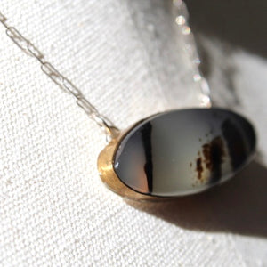 Montana Agate & Sterling Silver Necklace