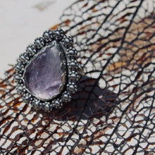 Load image into Gallery viewer, Amethyst & Sterling Silver Ring