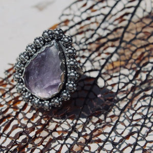 Amethyst & Sterling Silver Ring