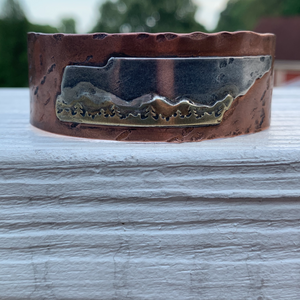 Copper Tennessee Mountains Cuff Bracelet