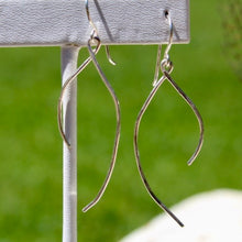 Load image into Gallery viewer, Sterling Silver 'Wishbone' Earrings w Sterling Silver Wire