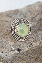 Load image into Gallery viewer, Prehnite & Sterling Silver Ring