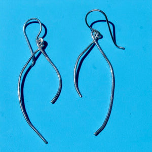 Sterling Silver 'Wishbone' Earrings w Sterling Silver Wire