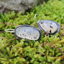 Load image into Gallery viewer, Montana Agate & Sterling Silver Earrings w Sterling Ear Wires