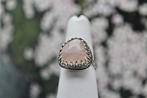 Rose Quartz & Sterling Silver Ring