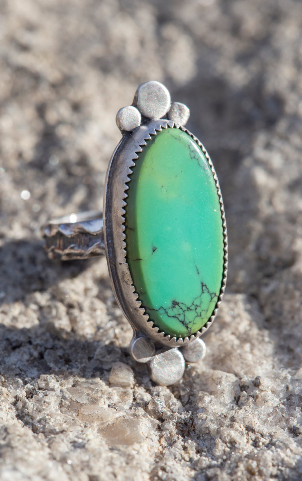 Hubei Turquoise and Sterling Silver Ring