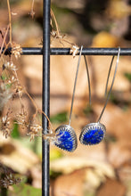 Load image into Gallery viewer, Lapis Lazuli (faceted) & Sterling Silver Dangle Earrings