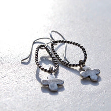 Load image into Gallery viewer, Twisted Wire & Hill Tribe Silver Charms Earrings