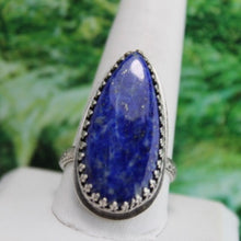 Load image into Gallery viewer, Lapis Lazuli & Sterling Silver Ring