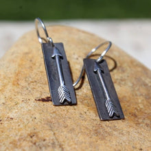 Load image into Gallery viewer, Sterling Silver Arrow Earrings