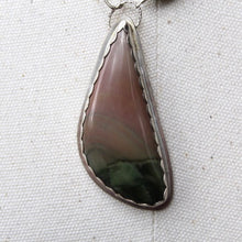 Load image into Gallery viewer, Polychrome Jasper, Faceted Serpentine, & Sterling Silver Necklace