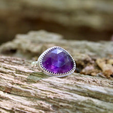 Load image into Gallery viewer, Amethyst (Faceted) & Sterling Silver Ring