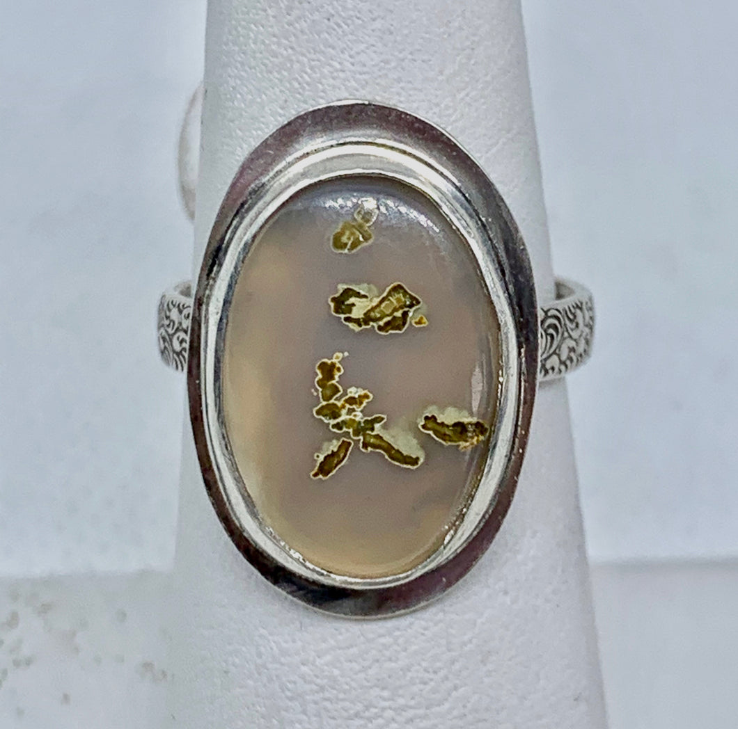 Choyas Agate w Inclusions & Sterling Silver Ring