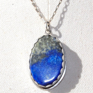 Lapis Lazuli & Sterling Silver Necklace