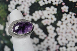 Amethyst (Cosmic) & Sterling Silver Ring