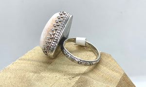 Scolecite & Sterling Silver Ring