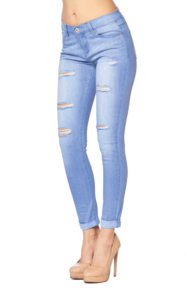 Load image into Gallery viewer, Ripped Skinny Jeans