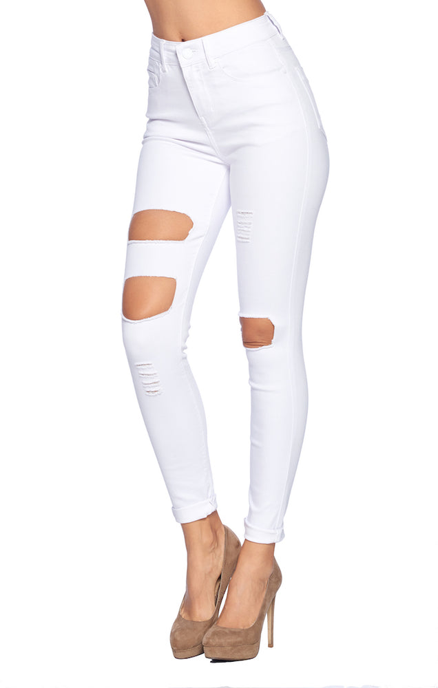 Load image into Gallery viewer, High Rise Ripped Jeans