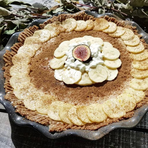 "Banana ""Cream"" Yoghurt Pie"