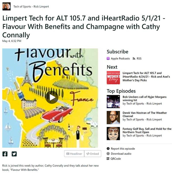 Limpert Tech for ALT 105.7 and iHeartRadio 5/1/21 - Flavour With Benefits and Champagne with Cathy Connally