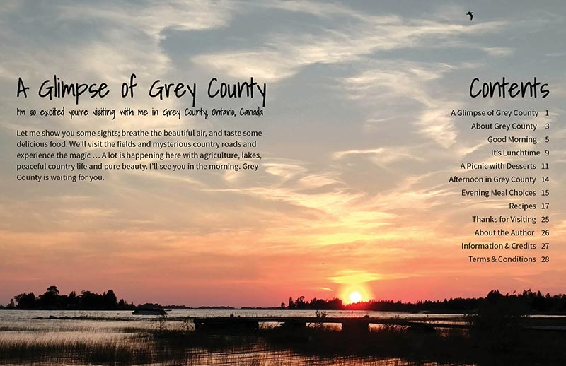 September 2017 - Flavour with Benefits Magazine - A Glimpse of Grey County, Ontario