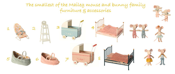 Maileg MY Furniture & Accessories for baby mouse