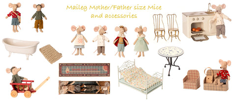Maileg Mum and Dad Mouse characters