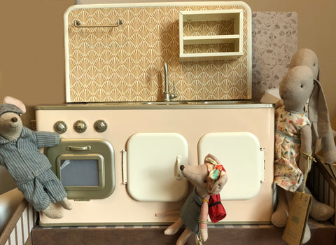 Maileg Powder Kitchen with Dad mouse, Size 2 Bunny