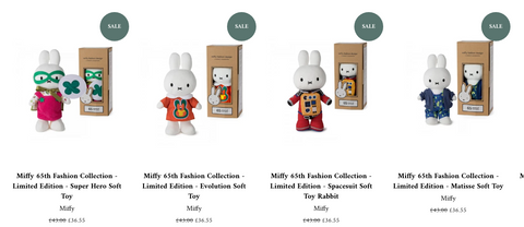 Miffy Limited Edition 65th Fashion Collection