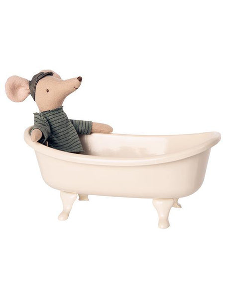 Maileg Miniature Bathtub & mouse (11-0109-00)