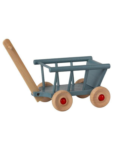 Maileg Micro wooden Wagon - Blue (11-1003-00)