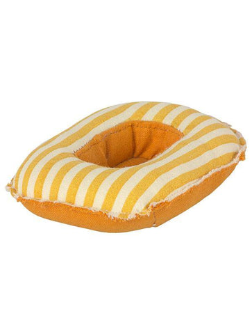 Maileg Rubber Boat, Small Mouse, Yellow Stripe 11-1403-01