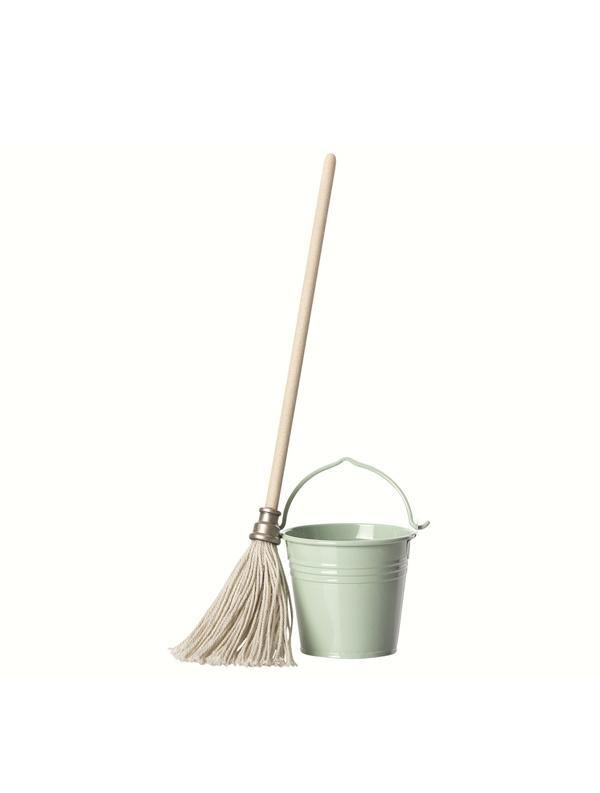Maileg Mini Bucket & Mop Set for Mini Bunny