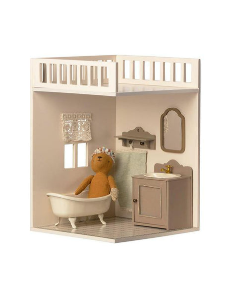 Maileg House of Miniature - Bathroom with teddy (11-0109-00)