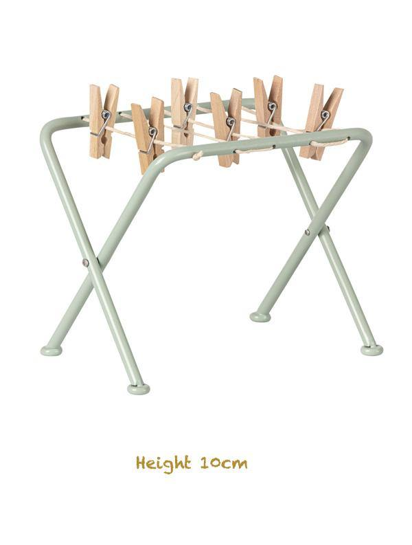 Maileg Miniature Metal Drying Rack with Pegs