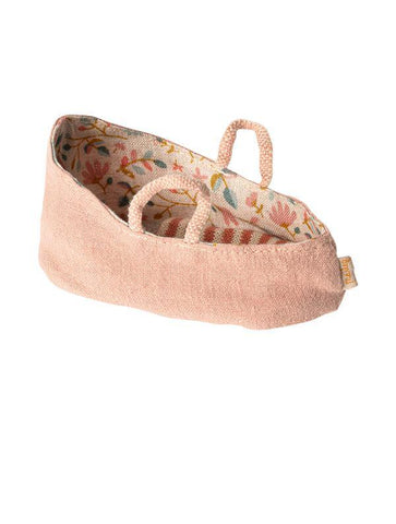 Maileg MY Baby Mouse Carry Cot - Misty Rose