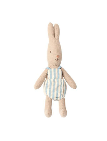 Maileg Micro Baby Rabbit With Blue Stripe Romper