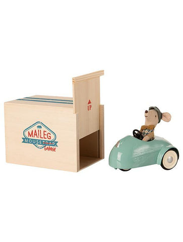 Maileg Mouse Car with Garage - Blue (16-0727-00)