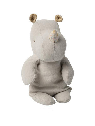 Maileg Safari Friends Small Rhino Grey