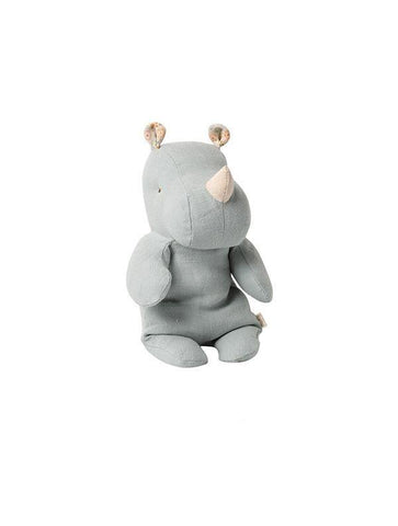 Maileg Safari Friends Small Rhino Blue/Grey (16-0921-02)