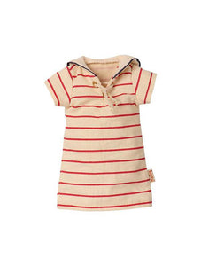 Maileg Bunny Size 2 striped dress Outfit (16-1200-01)