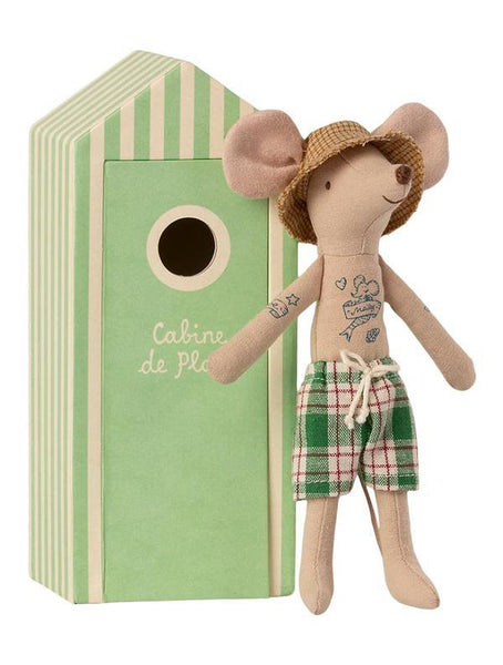 Maileg Beach Mouse - Dad in Cabin de Plage (16-1742-01)